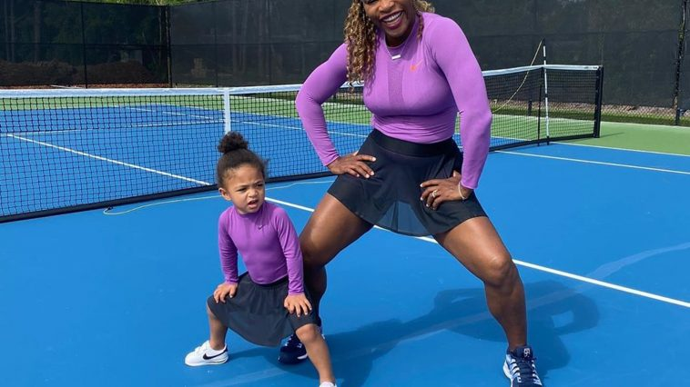 Serena Williams et sa fille Olympia